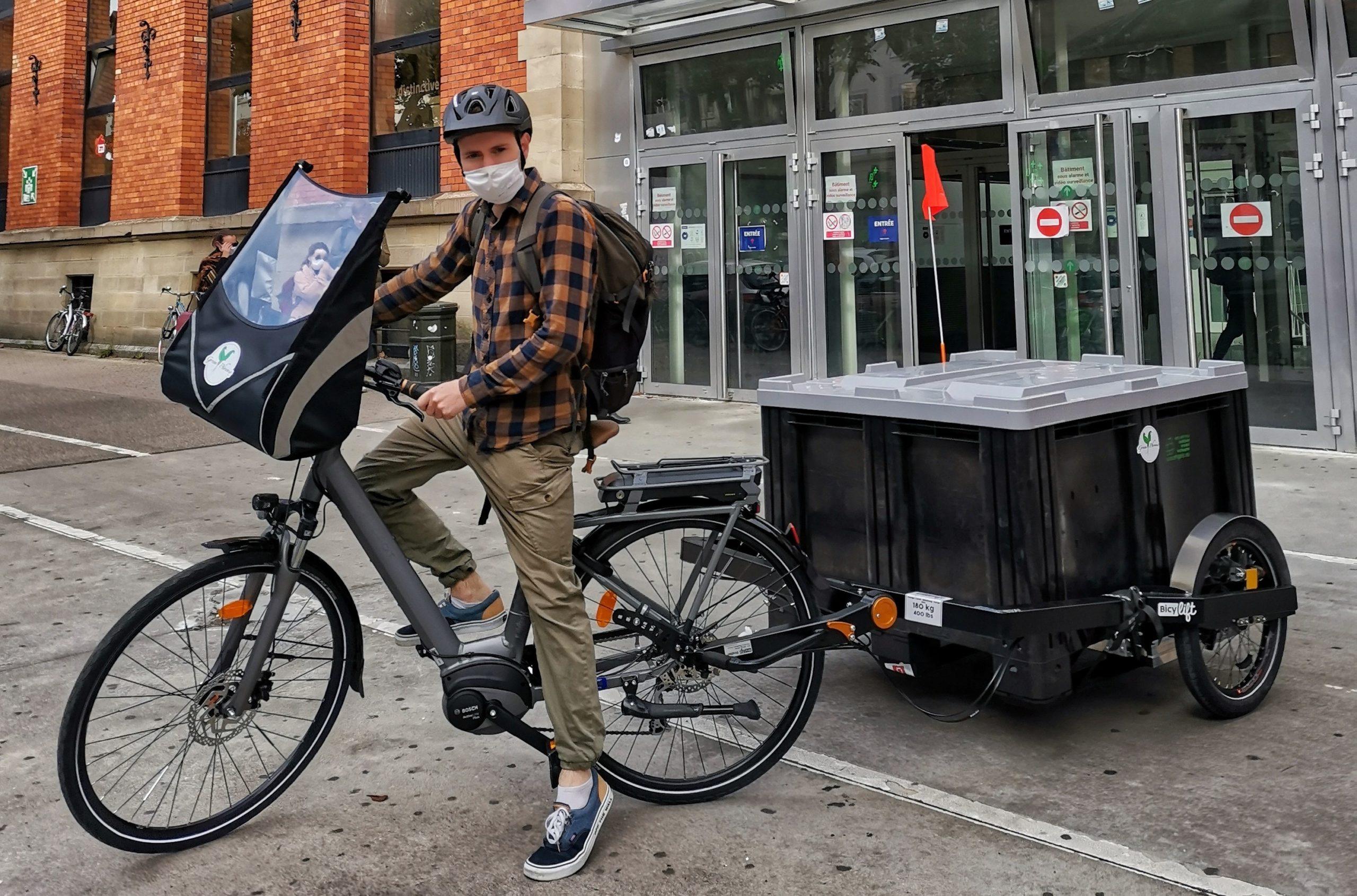 La collecte de biodéchets à vélo-cargo !